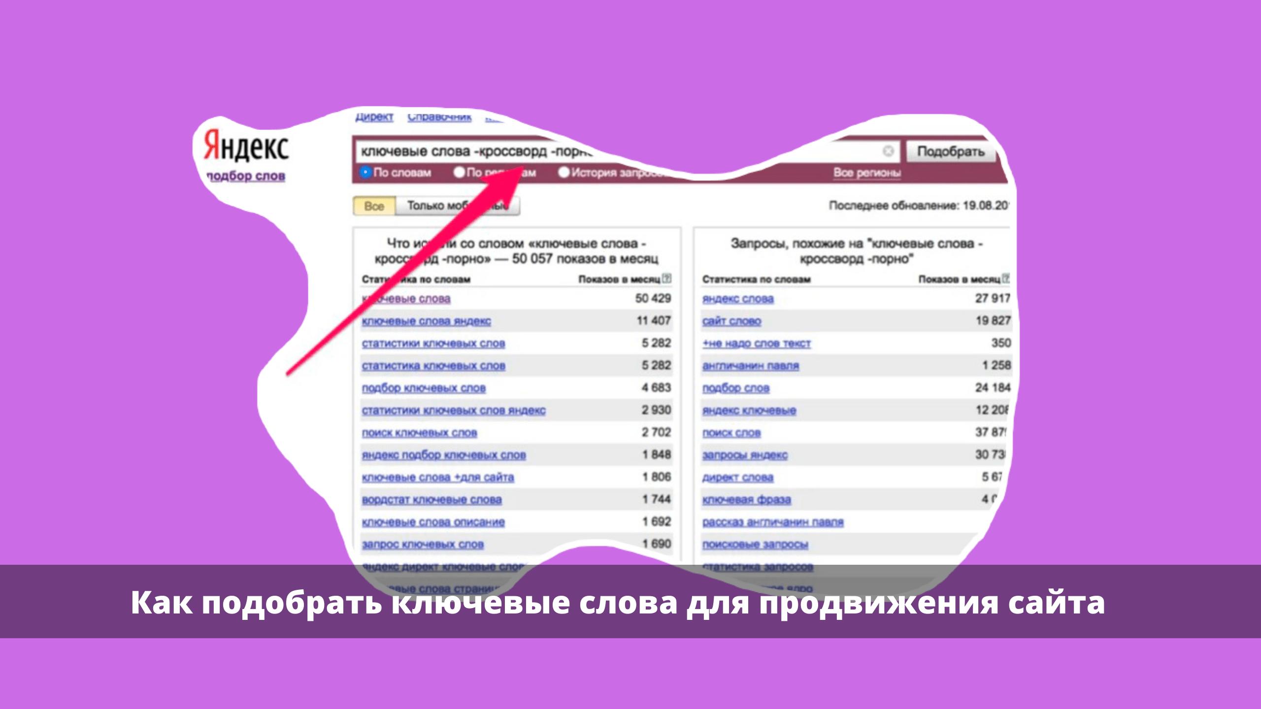 kljuchi dlja sajta - Как подобрать ключевые слова для продвижения сайта